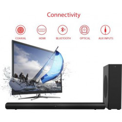 boAt Aavante Bar 3000 120 W Bluetooth Soundbar  (Premium Black, 2.1 Channel)