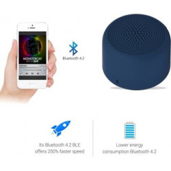 Portronics pico , por 313 3 W Bluetooth Speaker  (Blue, Stereo Channel)