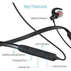 Portronics Harmonics 216 Bluetooth Headset  (Black, Wireless in ear)