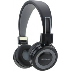 Portronics POR-012 Muffs G Bluetooth 4.2 Stereo Bluetooth Headset  (Grey, Wireless over the head)