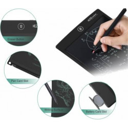 """Portronics POR 233 RuffPad 10+ 10"""" Re-Writable LCD Pad With Content Safety Button(Black)"""