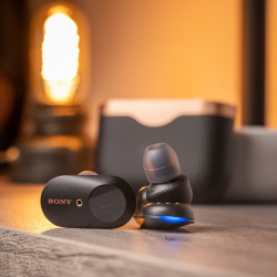 Sony WF-1000XM3 Truly Wireless Bluetooth in-Ear Headphones with Battery Life 32 Hours, and mic for Phone Calls