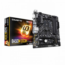 GIGABYTE B450M DS3H MOTHERBOARD (AMD SOCKET AM4/RYZEN 2ND GEN SERIES CPU/MAX 64GB DDR4-3200MHZ MEMORY)