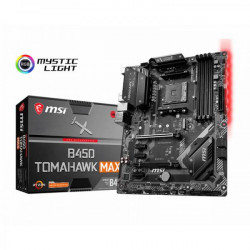 MSI B450 TOMAHAWK MAX MOTHERBOARD (AMD SOCKET AM4/RYZEN SERIES CPU/MAX 64GB DDR4 4133MHZ MEMORY)