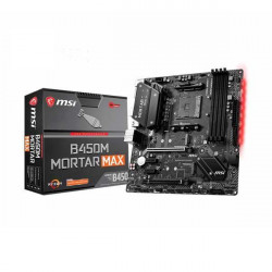 MSI B450M MORTAR MAX MOTHERBOARD (AMD SOCKET AM4/RYZEN SERIES CPU/MAX 64GB DDR4 4133MHZ MEMORY)