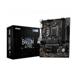 MSI B460M-A PRO MOTHERBOARD (INTEL SOCKET 1200/10TH GENERATION CORE SERIES CPU/MAX 64GB DDR4 2933MHZ MEMORY)