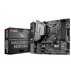 MSI MAG B365M MORTAR MOTHERBOARD (INTEL SOCKET 1151/9TH AND 8TH GENERATION CORE SERIES CPU/MAX 64GB DDR4 2666MHZ MEMORY)