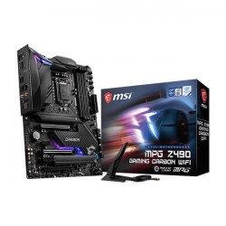 MSI MPG Z490 GAMING CARBON WIFI MOTHERBOARD(10TH GENERATION CORE SERIES CPU/MAX 128GB DDR4 4800MHZ MEMORY)