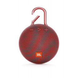 JBL Clip 3 Ultra-Portable Wireless Bluetooth Speaker with Mic (Red)