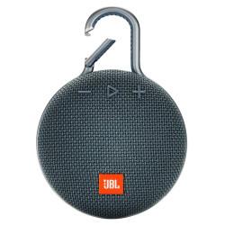 JBL Clip 3 Ultra-Portable Wireless Bluetooth Speaker with Mic (Blue)
