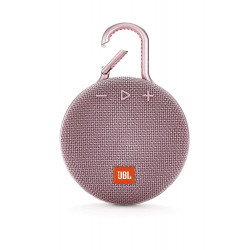 JBL Clip 3 Ultra-Portable Wireless Bluetooth Speaker with Mic (Pink)