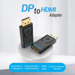 Vention DP to HDMI Adapter Super fast transmission  / Compact Design / Intelligent Drive(HBKB0)