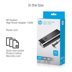 HP Pavilion High Power 4.5mm 150W Slim Adapter for HP Envy OMEN Pavilion X360 Laptops & AIO Desktops (2DR33AA)