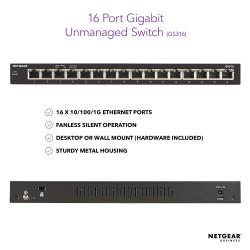 Netgear GS316 Gigabit Ethernet Unmanaged Switch