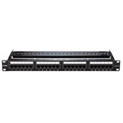 D-Link Cat6 UTP 24 Port Loaded Patch Panel/ Cat6 24 Port Panel Network Switch  (Black)