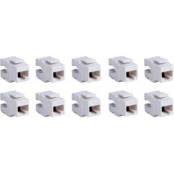 D-Link Cat6 I/O RJ45 UTP Keystone Jack - Pack of 10 Network Interface Card  (White)