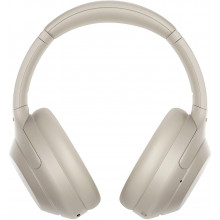 Sony WH-1000XM4 Wireless Noise Canceling Overhead Headphones with Mic for phone-call and Alexa voice control, Silver