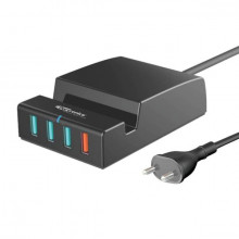 Portronics POR-960 6.0A, QC Charger with 4 USB Ports