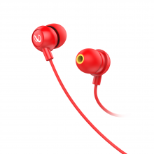 Infinity (JBL) Wynd 220 in-Ear Deep Bass Headphones with Mic( Red)