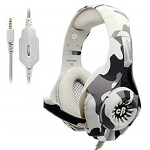 Cosmic Byte GS410 Headphones with Mic and for PS4, Xbox One, Laptop, PC, iPhone and Android Phones (Camo Grey )