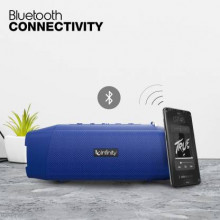Infinity (JBL) Clubz 750 Dual EQ Deep Bass 20W Portable Stereo Speaker with 10 Hours Playtime and IPX7 Waterproof Blue