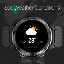 Portronics YOGG Kronos Alpha Smart Watch with Fitness Tracker, Call & SNS Reminders, Waterproof & Dust Resistant (Black)