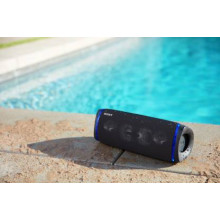 Sony SRS-XB43 Wireless Extra Bass Bluetooth Speaker with Mic, Loud Audio for Phone Calls (Black)