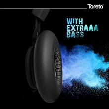 "Toreto""Thunder PRO""Black On Ear Bluetooth Headphones with Extra Bass- TOR 208"