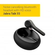 Jabra Talk 55 Bluetooth Headset for High Definition Hands-Free Calls with Dual Mic Noise Cancellation