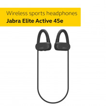 Jabra Elite Active 45e - Wireless Sports Earbuds, Waterproof and Alexa Enabled
