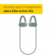 Jabra Elite Active 45e - Wireless Sports Earbuds, Waterproof and Alexa Enabled - Mint