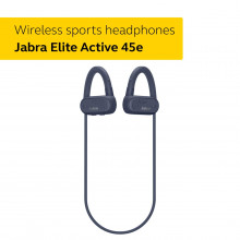 Jabra Elite Active 45e - Wireless Sports Earbuds, Waterproof and Alexa Enabled - Navy