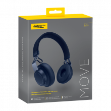 Jabra Move Wireless Bluetooth Stereo Headphones (Navy)