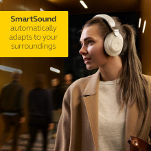 Jabra Elite 85h - Gold Beige Over Ear Headphones with ANC and SmartSound Technology, Alexa Enabled