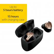 Jabra Elite 65t Alexa Enabled True Wireless Earbuds with Charging Case, 15 Hours Battery, Copper Black, Designed in Denmark