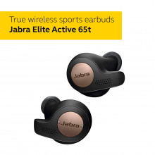 Jabra Elite Active 65t Alexa Enabled True Wireless Sports Earbuds, 15 Hours Battery, Copper Black