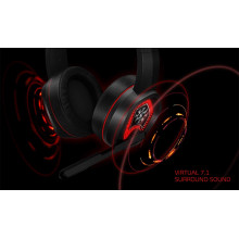 XPG EMIX H20 Wired Virtual 7.1 Surround Sound 50mm Drivers RGB Gaming Headset with Adjustable Microphone