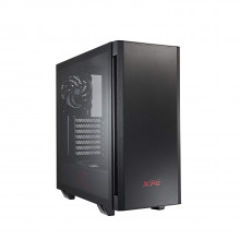 XPG Invader Mid-Tower Brushed Aluminum PC Case, 2X 120mm Fans, Front ARGB Downlight with Controller-Black