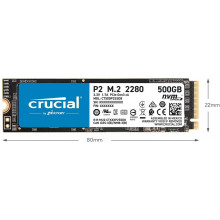 Crucial P2 500GB M.2 NVMe Internal SSD