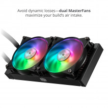 Cooler Master MasterLiquid ML240R Addressable RGB All-in-one CPU Liquid Cooler Dual Chamber Intel/AMD Support