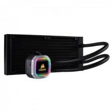 Corsair H100i RGB PLATINUM, 240MM RADIATOR, DUAL 120MM ML SERIES PWM FANS, RGB LIGHTING AND FAN CONTROL WITH SOFTWARE