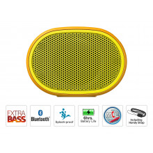 Sony SRS-XB01 Wireless Extra Bass Bluetooth Speaker with 6 Hours Battery Life, Splashproof Speaker wih Mic(Yellow)