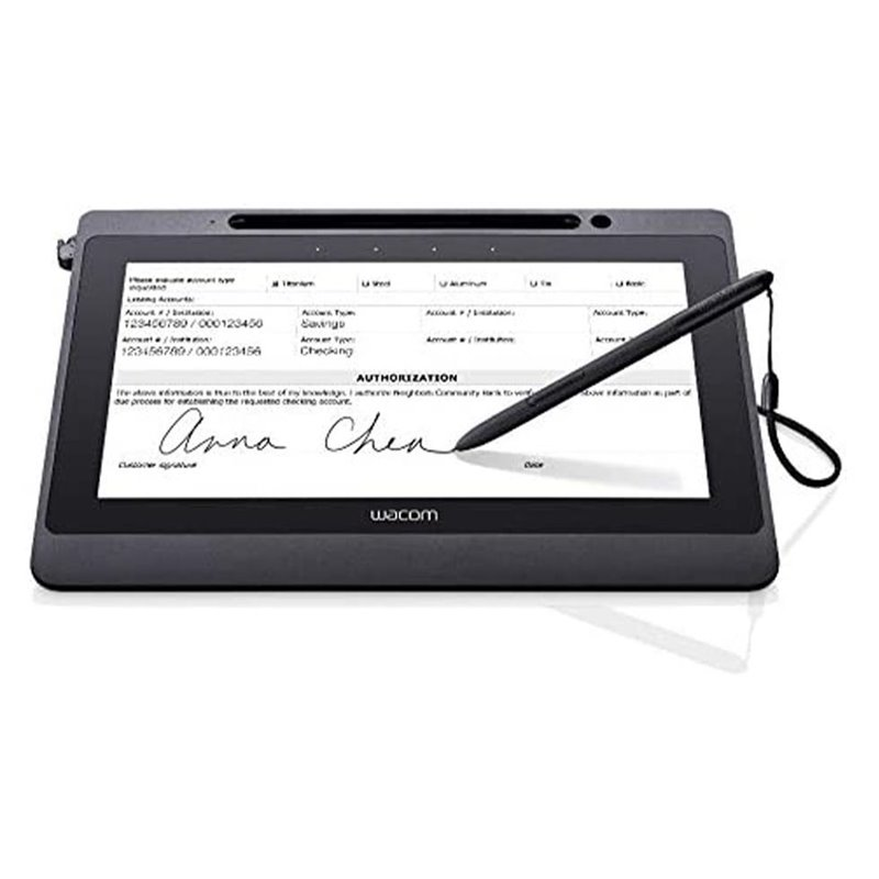 Wacom DTU-1141B 10.1 Inch FHD Pen Display with AES RSA Encryption and UID Support for Signature Capture