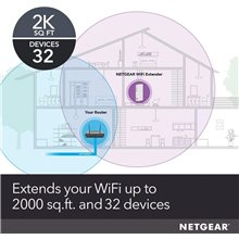 NETGEAR Wi-Fi Mesh Range Extender EX6250 with AC1750 Dual Band Wireless Signal Booster and Repeater