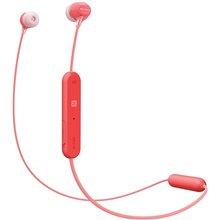 Sony WI-C400 Wireless Behind-Neck in Ear Headphone (Red)