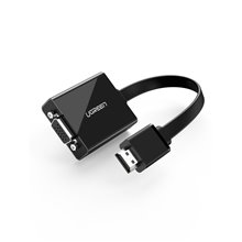 Ugreen Active HDMI to VGA Adapter Converter with 3.5 mm Audio Jack up to 1920*1080@60Hz for PC, Laptop, Ultrabook, Raspberry Pi
