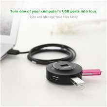 Ugreen USB 2.0 Hub 4 Ports for Your PC, Cell Phones, eReaders, Tablets