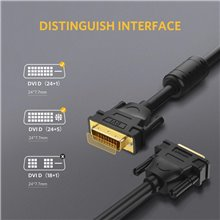 UGREEN DVI-D 24+1 Dual Link Male to Male Digital Video Cable Gold Plated with Ferrite Core Support 2560x1600 Resolution (10FT)