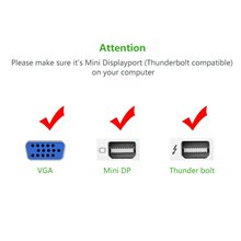 UGREEN Mini Display Port to VGA+ audio Converter
