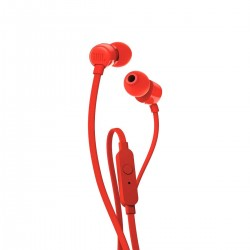 JBL T110 In-Ear Headphones with Mic (Red)
